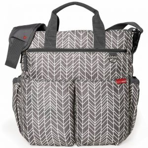 Skip hop torba duo signature grey feather