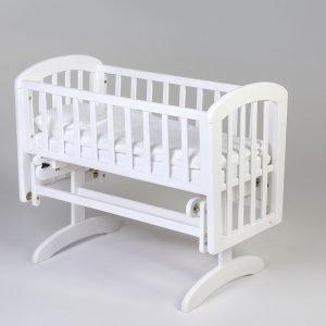 Kołyska anna glider crib troll nursery (k. biały)