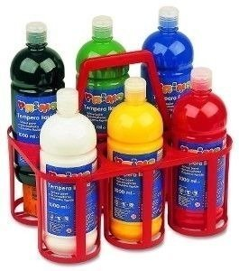 Farby plakatowe w butelkach –  6 kolorów x 1000 ml