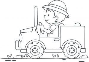 Jacek na traktorze