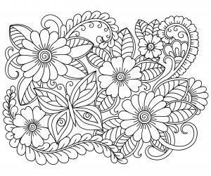 Kwiaty i motylek