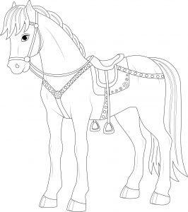 Osiodłany koń