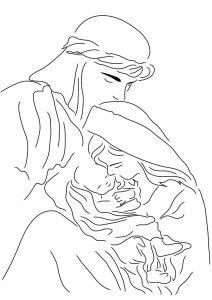 Maria, Józef i dzieciątko Jezus