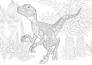 Dinozaur velociraptor