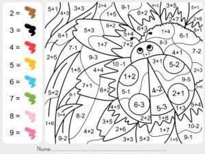 Pokoloruj biedronkę wg numerów