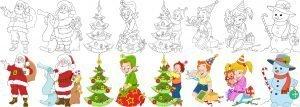 Elfy i św. Mikołaj