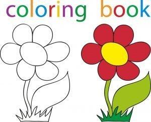 Pokoloruj kwiatka
