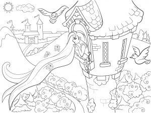 Księżniczka Roszpunka w kamiennej wieży