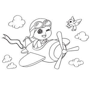 Samolot i ptaszek