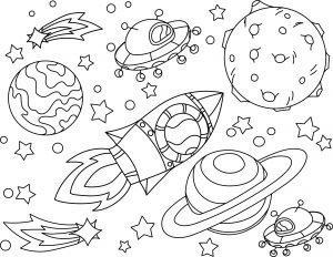 Ufo i kosmiczna rakieta