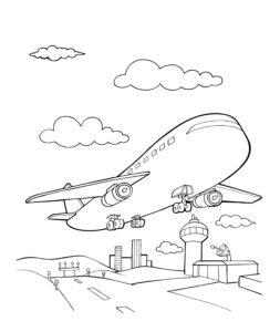 Samolot nad lotniskiem