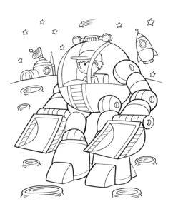 Robot koparka