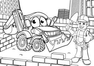 Koparka i murarz