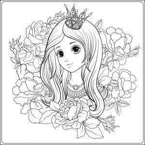 Młoda dziewczyna w koronie księżniczki