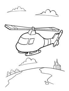Helikopter w powietrzu