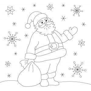 Mikołaj i padający śnieg