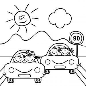 Samochody w trasie
