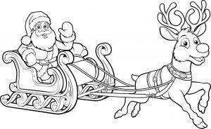 Latający mikołaj i renifer Rudolf