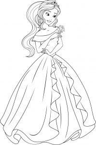 Kolorowanka z piękną księżniczką