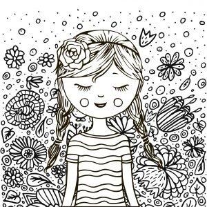 Dziewczyna i kwiatki
