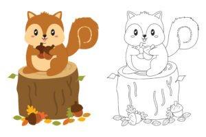 Wiewiórka i orzech