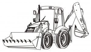Traktor z łychą