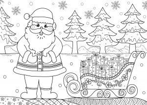 Mikołaj i sanie