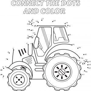 Połącz punkty - traktor