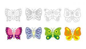 Kolorowe motylki