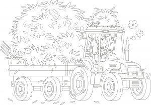 Traktor i siano