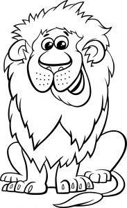 Uśmiechnięty lew