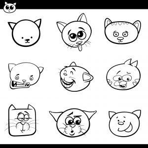 Głowy kotków