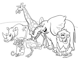 Małpa, słoń i lew