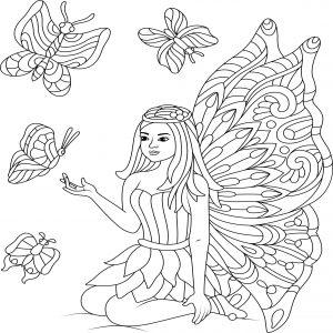 Elfia wróżka i motylki