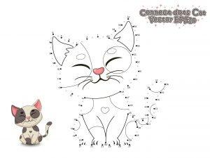 Połącz punkty kotek