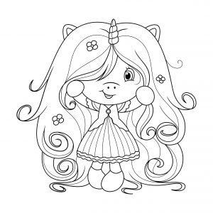 Dziewczynka w długich włosach