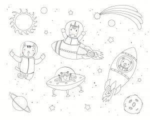 Kotki w kosmosie