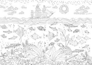 Statek i rybki