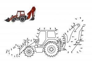 Połącz punkty w traktor