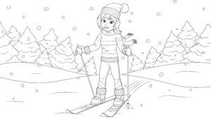Dziewczyna na nartach