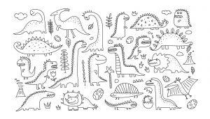 Kolekcja zabawnych dinozaurów