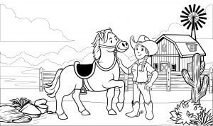 Konik i kowbojka