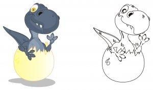 Wykluwający się dinozaur