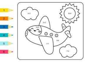 Samolot i słoneczko