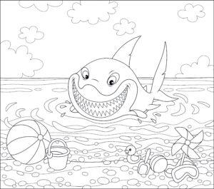 Rekin na plaży