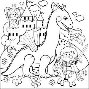 Rycerz, smok i księżniczka