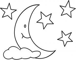 Księżyc i gwiazdki