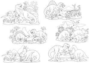 Różne dinozaury