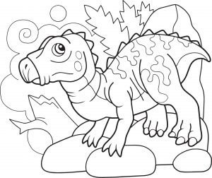 ładny prehistoryczny dinozaur iguanodon