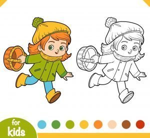 Dziewczynka i koszyk